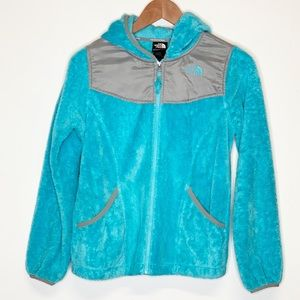 North Face Oso Blue Hoodie Girls Large 14 - 16